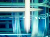 蓝色抽象未来派背景 — 图库照片