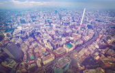 Aerial view of bustling city — Foto Stock