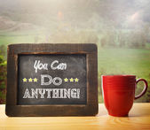 You Can Do Anything! inscribed on blackboard — Stock Photo