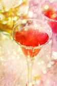 Red cocktail with salt — Stock Photo