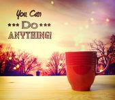 Você pode fazer qualquer coisa — Foto Stock