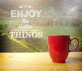 Disfrutar de las pequeñas cosas — Foto de Stock