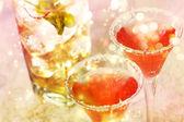 Red cocktail with salt — Stok fotoğraf