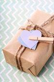 El yapımı hediye kutusu — Stok fotoğraf