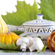 Royalty-Free Stock Photo: Halloween soup  with pumpkin and champignon