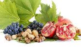 Romã com frutas outonais — Foto Stock