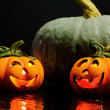 Стоковое фото: Halloween decorative pumpkins