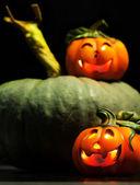 Dekorative kürbisse halloween — Stockfoto