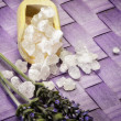 图库照片: Lavender bath salts