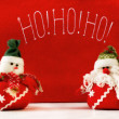 Stock Photo: Ho! ho! ho! christmas puppets