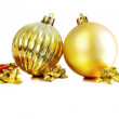Stock Photo: Golden chistmas balls