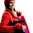 Stok fotoğraf: Christmas shopping girl