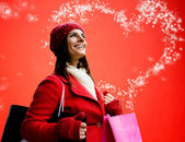 магия рождественских покупок — Стоковое фото