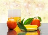 Clementine spa kit — Stock Photo