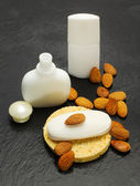 Almond spa accessories — Stock Photo
