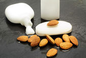 Almond moisturizing cream — Stock Photo