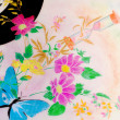 图库照片: Music and floral abstract background