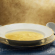 Broth with ravioli — Foto Stock