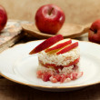 Timbale of rice, speck and red apple — Stockfoto