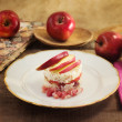 Timbale of rice, speck and red apple — Stok fotoğraf