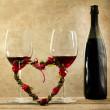 Valentine's day aperitif concept — Stock Photo