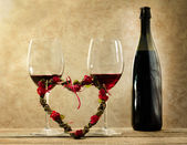 Valentine's day aperitif concept — Stock Photo