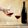 Red wine toast — Stock Photo #19146345