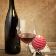 Red wine glass — Foto de Stock