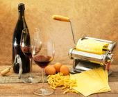 Italiaans eten stijl — Stockfoto