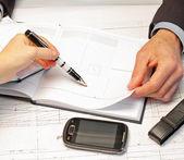 Plannning ett affärsmöte — Stockfoto