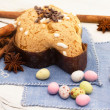 Dove with easter chocolates-colombpasquale — Stock fotografie #21540343