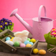 Stockfoto: Easter decorations and sweets