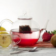 Постер, плакат: Strawberry anf kiwi infusion tea