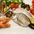 Raw fish,crustaceans and mollusk selection — Stock Photo #22740959