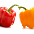 Red and yellow pepper — Stockfoto