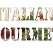 Italian gourmet text — Stockfoto