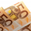 Stock Photo: Fifty euro close up