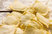 Home made ravioli — Stockfoto