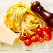 Genuine ingredients for typical italian recipe — Stock Photo
