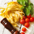 Stock Photo: Italifood background