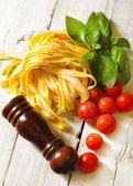 Italian food background — Stockfoto