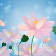 Lotus flower spa background — Imagen vectorial