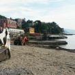 Stock Photo: Wood burning at Beach after stormy weather in santmargheritligure, today