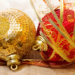 Christmas bauble with ribbon — Stock Photo