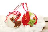 Felt christmas baubles — Foto de Stock