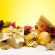 Golden christmas — Stock Photo