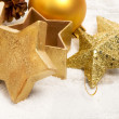 Christmas setting close up — Stock Photo
