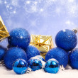 Stock Photo: Blue magic Christmas