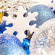 Blue christmas close-up — Stock Photo