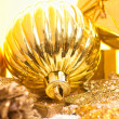 Golden christmas bauble — Stock Photo #36393519
